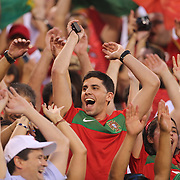 Fans of Portugal support their team in action during the Portugal V Ireland International Friendly match in preparation for the 2014 FIFA World Cup in Brazil. MetLife Stadium, Rutherford, New Jersey, USA. 10th June 2014. Photo Tim Clayton