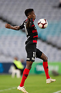 SYDNEY, AUSTRALIA - MARCH 30: Western Sydney Wanderers forward Bruce Kamau (11) controls the ball at round 23 of the Hyundai A-League Soccer between Western Sydney Wanderers FC and Melbourne City FC on March 30, 2019 at ANZ Stadium in Sydney, Australia. (Photo by Speed Media/Icon Sportswire)