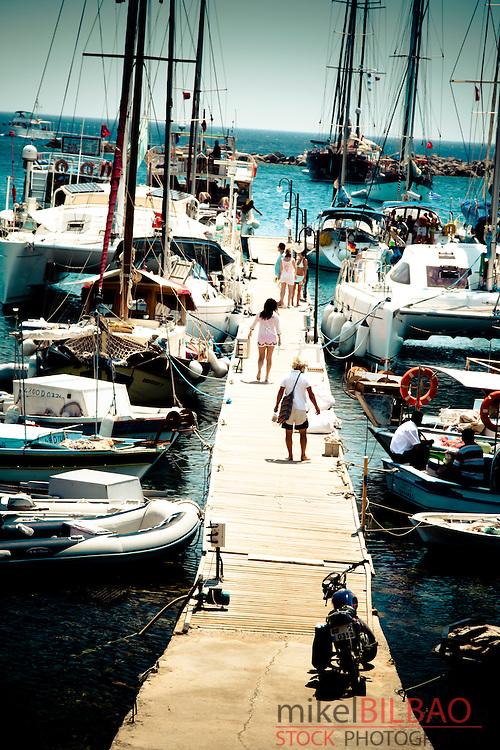 Harbour. Knidos ancient Greek city.<br /> Datca peninsula, Mugla province, Turkey.