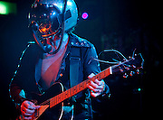 Bob Log III performing live at The Wall, Taipei, Taiwan. Bob Log III is an Ameircan slide guitar one man band. During performances, he plays old silvertone archtop guitars, wears a full body cannonball man suit, and a helmet wired to a telephone which allows him to devote his hands and feet to guitar and drums. The spectacle has been described as a guitar dance party.