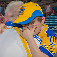 A disappointed young Clare Supporter, Sean Brew from Ennis, at the final whistle