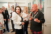 JOAN COLLINS; BASIA BRIGGS; STEVEN BERKOFF, Drinks party hosted by Basia Briggs. Sloane Gdns. London. 24 May 2010. -DO NOT ARCHIVE-© Copyright Photograph by Dafydd Jones. 248 Clapham Rd. London SW9 0PZ. Tel 0207 820 0771. www.dafjones.com.