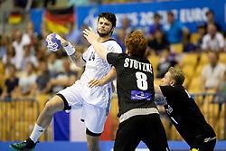Elohim Prandi of France during handball match between National teams of Germany and France in Semifinal of 2018 EHF U20 Men's European Championship, on July 25, 2018 in Arena Zlatorog, Celje, Slovenia. Photo by Urban Urbanc / Sportida