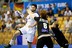 Elohim Prandi of France during handball match between National teams of Germany and France in Semifinal of 2018 EHF U20 Men's European Championship, on July 25, 2018 in Arena Zlatorog, Celje, Slovenia. Photo by Urban Urbanc / Sportida