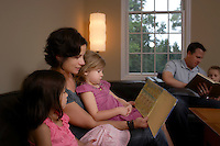 Family reading books