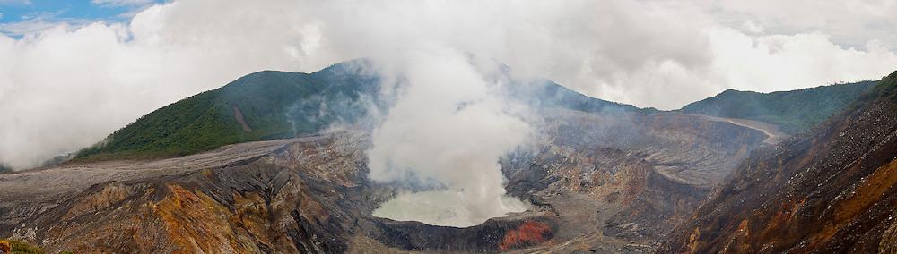 The Active Crater of the Poas Volcano, Parque Nacional Volcan Poas, Costa Rica