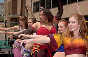 16989International Street Fair May 2005..Dakini Dance Studio:..left to right, back to front:..Allison Sieber, Kimberly R. Blahnik, Paige Martin, Allisha Hunt, Stephanie Keeton