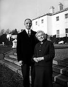 President Eamon de Valera and Mrs. de Valera celebrate their Golden Wedding Anniversary at Áras an Uachtarain.. 07.01.1960