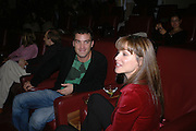 "Georgie Zaris on right. Motorola Grand Classics at the Electric Cinema on Portobello Road,  The French movie Jean Luc goddard's ""Le Mepris"" was screened during the event. The party was hosted by Kristin Scott Thomas. London. 26 September 2005. ONE TIME USE ONLY - DO NOT ARCHIVE © Copyright Photograph by Dafydd Jones 66 Stockwell Park Rd. London SW9 0DA Tel 020 7733 0108 www.dafjones.com"