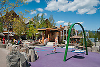 A playground built in 2010 offers safe play for children of all ages and abilities.