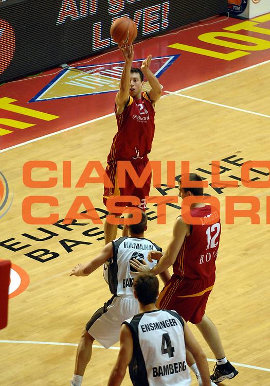DESCRIZIONE : Roma Eurolega 2007-08 Lottomatica Virtus Roma Brose Baskets Bamberg<br /> GIOCATORE : Roko Ukic<br /> SQUADRA : Lottomatica Virtus Roma<br /> EVENTO : Eurolega 2007-2008 <br /> GARA : Lottomatica Virtus Roma Brose Baskets Bamberg<br /> DATA : 15/11/2007 <br /> CATEGORIA : tiro<br /> SPORT : Pallacanestro <br /> AUTORE : Agenzia Ciamillo-Castoria/E.Grillotti