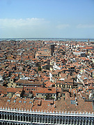 Aerial view of the city of Venice, in Italy.