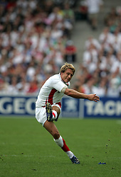 Jonny Wilkinson of England kicks another penalty against Samoa.  England v Samoa, Nantes, France, Rugby World Cup 2007, 22nd September 2007.