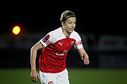 Arsenal defender Janni Arnth (4) during the FA Women's Super League match between Arsenal Women and Yeovil Town Women at Meadow Park, Borehamwood, United Kingdom on 20 February 2019.