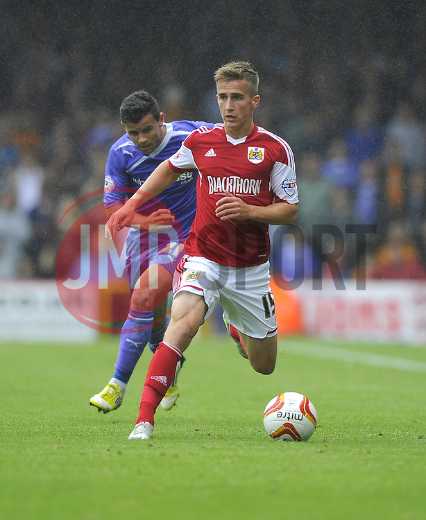 Bristol City's Joe Bryan drives forward  - Photo mandatory by-line: Joe Meredith/JMP - Tel: Mobile: 07966 386802 17/08/2013 - SPORT - FOOTBALL - Ashton Gate - Bristol -  Bristol City V Wolves - Sky Bet League One