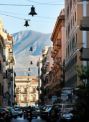 ITALY SICILY PALERMO 28APR08 - Old buildings in narrow streets with mountains looming behind the city centre of Palermo, Sicily.. . jre/Photo by Jiri Rezac. . © Jiri Rezac 2008. . Contact: +44 (0) 7050 110 417. Mobile:  +44 (0) 7801 337 683. Office:  +44 (0) 20 8968 9635. . Email:   jiri@jirirezac.com. Web:    www.jirirezac.com. . © All images Jiri Rezac 2007 - All rights reserved.