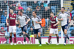West Brom's Chris Brunt celebrates after scoring his sides first goal for 1-2 - Photo mandatory by-line: Matt McNulty/JMP - Mobile: 07966 386802 - 08/02/2015 - SPORT - Football - Burnley - Turf Moor - Burnley v West Brom - Barclays Premier League