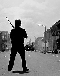 February 2, 2017 - Michigan, U.S. - Detroit Riot of 1967, a scene on 12th Street. (Credit Image: © Detroit Free Press via ZUMA Wire)