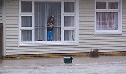 Flooding from the Heathcote River around Eastern Terrace, Christchurch, New Zealand, Saturday, July 22, 2017. Credit:  SNPA / David Alexander -NO ARCHIVING-