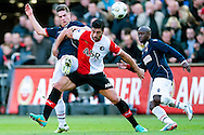 Onderwerp/Subject: Feyenoord - Willem II - Eredivisie<br /> Reklame:  <br /> Club/Team/Country: <br /> Seizoen/Season: 2012/2013<br /> FOTO/PHOTO: Graziano PELLE (FRONT) of Feyenoord in duel with Jordens PETERS (BEHIND) of Willem II. (Photo by PICS UNITED)<br /> <br /> Trefwoorden/Keywords: <br /> #04 $94 &plusmn;1342773947854<br /> Photo- &amp; Copyrights &copy; PICS UNITED <br /> P.O. Box 7164 - 5605 BE  EINDHOVEN (THE NETHERLANDS) <br /> Phone +31 (0)40 296 28 00 <br /> Fax +31 (0) 40 248 47 43 <br /> http://www.pics-united.com <br /> e-mail : sales@pics-united.com (If you would like to raise any issues regarding any aspects of products / service of PICS UNITED) or <br /> e-mail : sales@pics-united.com   <br /> <br /> ATTENTIE: <br /> Publicatie ook bij aanbieding door derden is slechts toegestaan na verkregen toestemming van Pics United. <br /> VOLLEDIGE NAAMSVERMELDING IS VERPLICHT! (&copy; PICS UNITED/Naam Fotograaf, zie veld 4 van de bestandsinfo 'credits') <br /> ATTENTION:  <br /> &copy; Pics United. Reproduction/publication of this photo by any parties is only permitted after authorisation is sought and obtained from  PICS UNITED- THE NETHERLANDS
