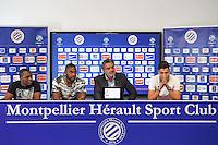 Jerome Roussillon / William Remy / Laurent Nicollin / Ramy Bensebaini  - 29.06.2015 - Reprise de Montpellier - 2015/2016<br />Photo : Alexandre Dimou / Icon Sport