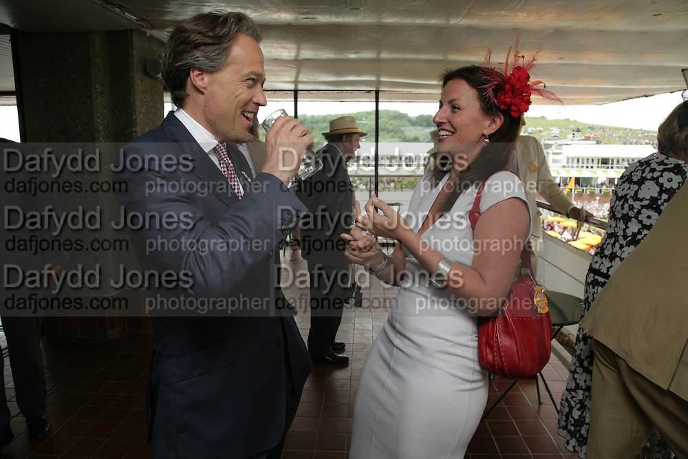 The Earl of March and Davina McCall, Glorious Goodwood. 2 August 2007.  -DO NOT ARCHIVE-© Copyright Photograph by Dafydd Jones. 248 Clapham Rd. London SW9 0PZ. Tel 0207 820 0771. www.dafjones.com.