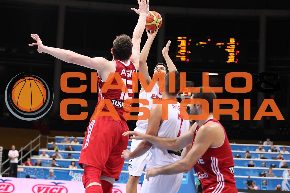DESCRIZIONE : Panevezys Lithuania Lituania Eurobasket Men 2011 Preliminary Round Spagna Turchia Spain Turkey<br /> GIOCATORE : Felipe Reyes <br /> SQUADRA : Spagna Spain<br /> EVENTO : Eurobasket Men 2011<br /> GARA : Spagna Turchia Spain Turkey<br /> DATA : 05/09/2011 <br /> CATEGORIA : tiro<br /> SPORT : Pallacanestro <br /> AUTORE : Agenzia Ciamillo-Castoria/ElioCastoria<br /> Galleria : Eurobasket Men 2011 <br /> Fotonotizia : Panevezys Lithuania Lituania Eurobasket Men 2011 Preliminary Round Spagna Turchia Spain Turkey<br /> Predefinita :