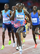 Timothy Cheruiyot (KEN) wins the 1,500m in 3:33.93 during the Weltklasse Zurich in an IAAF Diamond League meeting at Letzigrund Stadium in Zurich, Switzerland on Thursday, August 24, 2017.   (Jiro Mochizuki/Image of Sport)