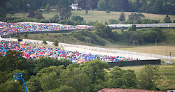 Camp site as seen from the ferris wheel.  Friday, 10th July 2015, First day at T in the Park 2015, at its new home at Strathallan Castle.