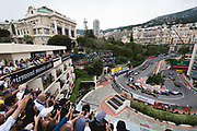 May 23-27, 2018: Monaco Grand Prix.  Start of the 76th Monaco Grand Prix from the Fairmont hairpin.  Nico Hulkenberg (GER), Renault Sport Formula One Team, R.S.18, Pierre Gasly, Scuderia Toro Rosso Honda, STR13, Stoffel Vandoorne (BEL), McLaren Renault, MCL33