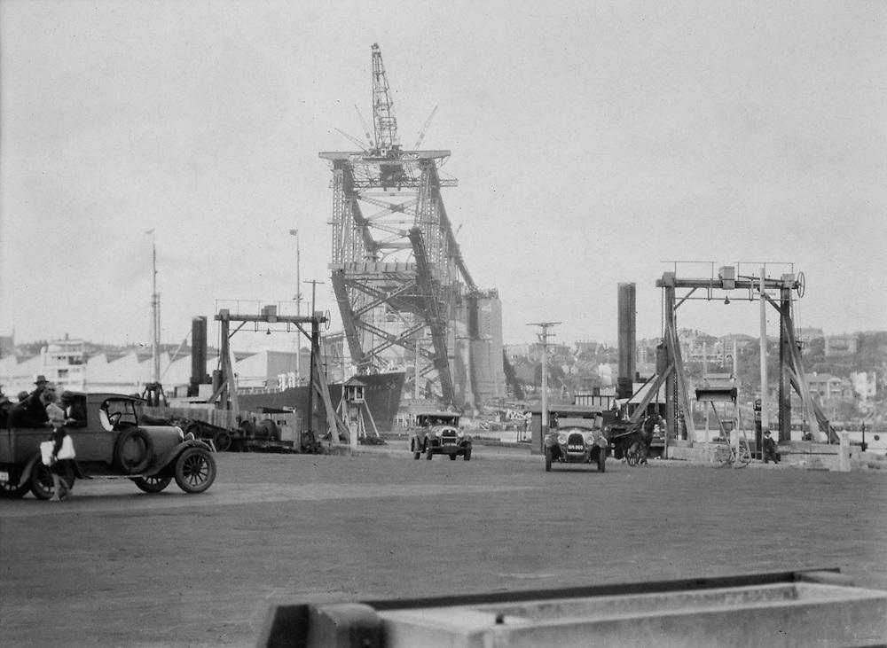 Sydney Harbour Bridge Under Construction, View from the North Shore, Sydney, Australia,1930