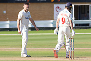 WICKET - Nick Selman departs LBW to Gavin Griffiths during the Specsavers County Champ Div 2 match between Glamorgan County Cricket Club and Leicestershire County Cricket Club at the SWALEC Stadium, Cardiff, United Kingdom on 18 September 2019.