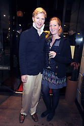 HENRY CONWAY and his sister CLAUDIA CONWAY at a party hosted by Links of London to launch their new Driver Chicane Chronograph Watch held at Lonks, Sloane Square, London on 24th September 2008.