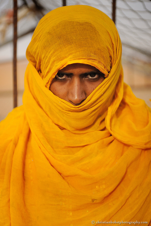 A beduin woman living in the desert of Wahiba Sands. Oman, 2011