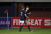 Dundee&rsquo;s Jesse Curran is congratulated after scoring by Cameron Mooney - Dundee under 20s v Motherwell in the SPFL development league at Dens Park, Dundee<br /> <br /> <br />  - &copy; David Young - www.davidyoungphoto.co.uk - email: davidyoungphoto@gmail.com