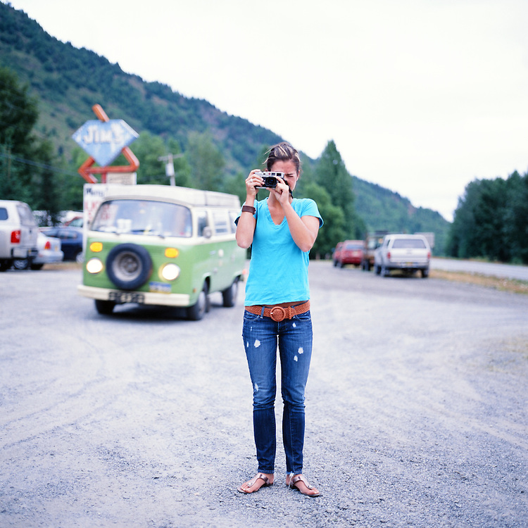 INDIAN, ALASKA - 2009: Leah Fisher Arsenault.