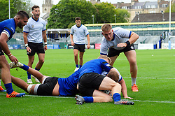 Sam Underhill scores a try, Bath Rugby were allowed to start Stage Two of the Premiership Rugby return to play protocol - Mandatory byline: Patrick Khachfe/JMP - 07966 386802 - 06/08/2020 - RUGBY UNION - The Recreation Ground - Bath, England - Bath Rugby training
