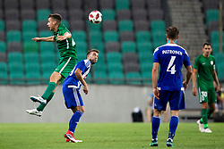 Nik Kapun of NK Olimpija Ljubljana during 1st Leg football match between NK Olimpija Ljubljana and HJK Helsinki in 3rd Qualifying Round of UEFA Europa League 2018/19, on August 9, 2018 in SRC Stozice, Ljubljana, Slovenia. Photo by Urban Urbanc / Sportida