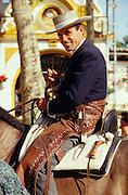 Gentleman on horseback at the annual ?Feria? in Jerez de la Frontera.