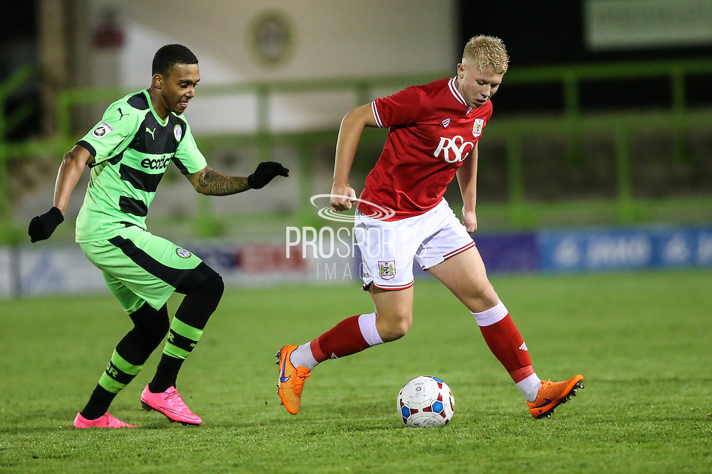 Bristol City's George Dowling during the The County Cup match between Forest Green Rovers and Bristol City at the New Lawn, Forest Green, United Kingdom on 23 November 2015. Photo by Shane Healey.