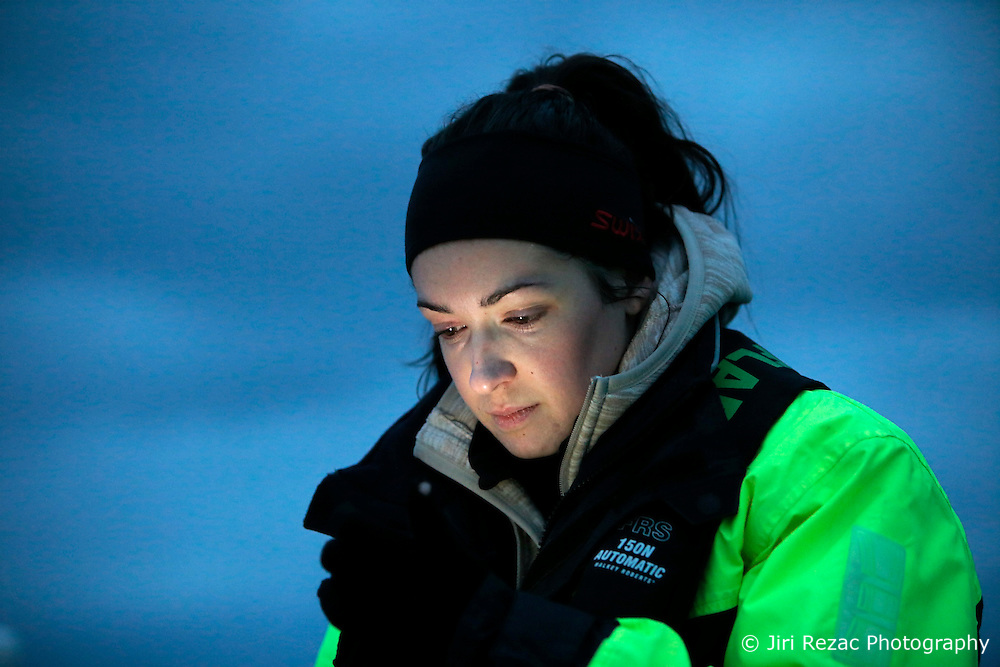 NORWAY ANDENES 8DEC15 - French whale researcher Eve Jourdain during a boat trip off the coast of Andenes, Norway.<br /> <br /> jre/Photo by Jiri Rezac / Greenpeace<br /> <br /> &copy; Jiri Rezac 2015