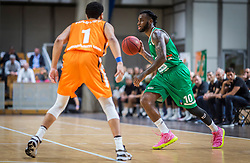 10# Codi Miller-McIntyre of KK Cedevita Olimpija during the friendly match between KK Cedevita Olimpija Ljubljana and Ratiopharm Ulm on 11.9.2019 in Hala Tivoli, Ljubljana, Slovenia. Photo by Urban Meglič / Sportida