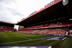 A general view of the City Ground, home to Nottingham Forest - Mandatory by-line: Robbie Stephenson/JMP - 01/07/2020 - FOOTBALL - The City Ground - Nottingham, England - Nottingham Forest v Bristol City - Sky Bet Championship
