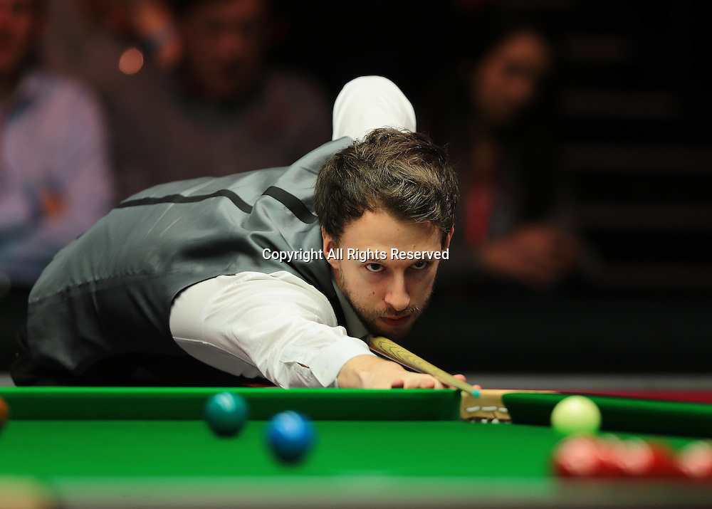 16.01.2016.  Alexandra Palace, London, England. Masters Snooker. Semi Finals. Judd Trump during the eighth frame
