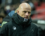 FOOTBALL: Coach Ståle Solbakken (FC København) looks concentrated before the UEFA Europa League Group F match between FC København and FC Sheriff at Parken Stadium, Copenhagen, Denmark on December 7, 2017. Photo: Claus Birch