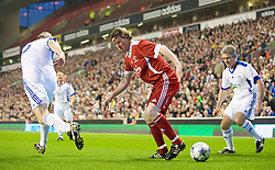 LIVERPOOL, ENGLAND - Thursday, May 14, 2009: Liverpool Legends' Steve McManaman and All Stars' Dave Watson (L) and Alan Irvine (R) during the Hillsborough Memorial Charity Game at Anfield. (Photo by David Rawcliffe/Propaganda)