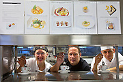 Vienna. Le Meridien Hotel. Restaurant Shambala. Executive Chef Erich Cochlar (m.) with some of his team.