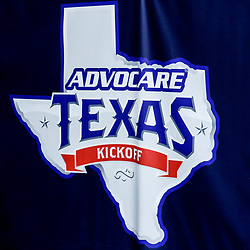 Sep 2, 2017; New Orleans, LA, USA; The logo for the AdvoCare Texas Kickoff game between the Brigham Young Cougars and the LSU Tigers at the Mercedes-Benz Superdome. Mandatory Credit: Derick E. Hingle-USA TODAY Sports