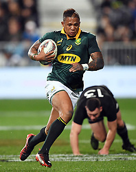South Africa's Elton Jantjies against New Zealand in the Investic Championship rugby test match at QBE Stadium, Albany, Auckland New Zealand, Saturday, September 16, 2017. Credit:SNPA / Ross Setford** NO ARCHIVING**