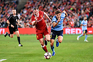May 24, 2017: Liverpool FC player Dejan Lovren (6)at the soccer match, between English Premiere League team Liverpool FC and Sydney FC, played at ANZ Stadium in Sydney, NSW Australia.